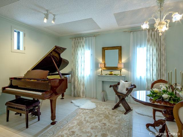 新築同時工事のピアノ防音室