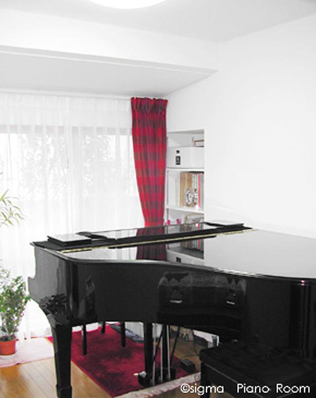 和室をリフォームしたピアノ室