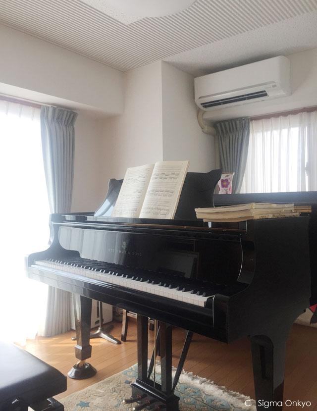 高層階のピアノ防音室