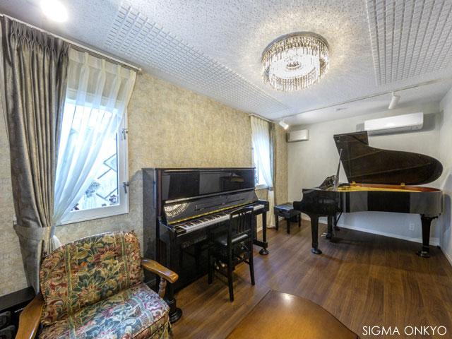 エレガントなピアノ音楽室